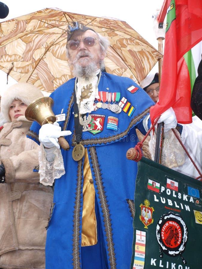 Tre re Parade, Lublino, Polonia fotografia stock libera da diritti