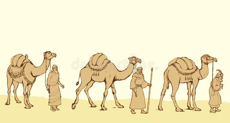 Tre re saggi che seguono la stella di Betlemme illustrazione di stock