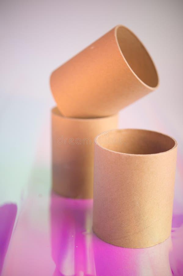 Tre rullar f?r toalettpapper arkivbild