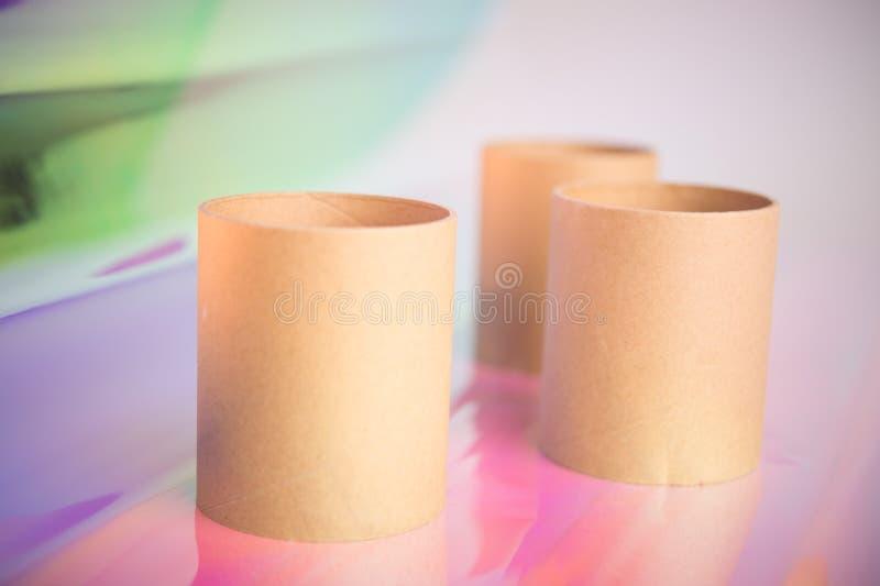 Tre rullar f?r toalettpapper royaltyfri foto