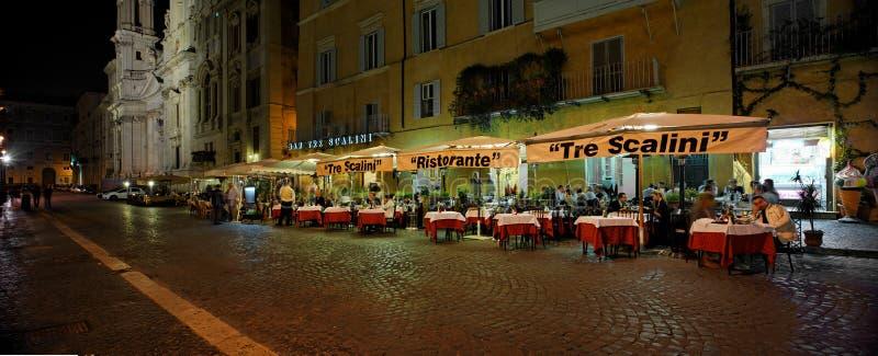 Tre Scalini餐馆,罗马,意大利 图库摄影