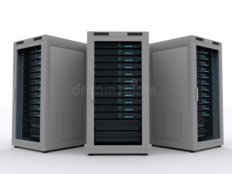 Tre serverkuggar stock illustrationer