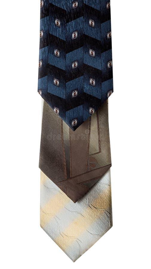 Tre Silk Ties royaltyfri bild