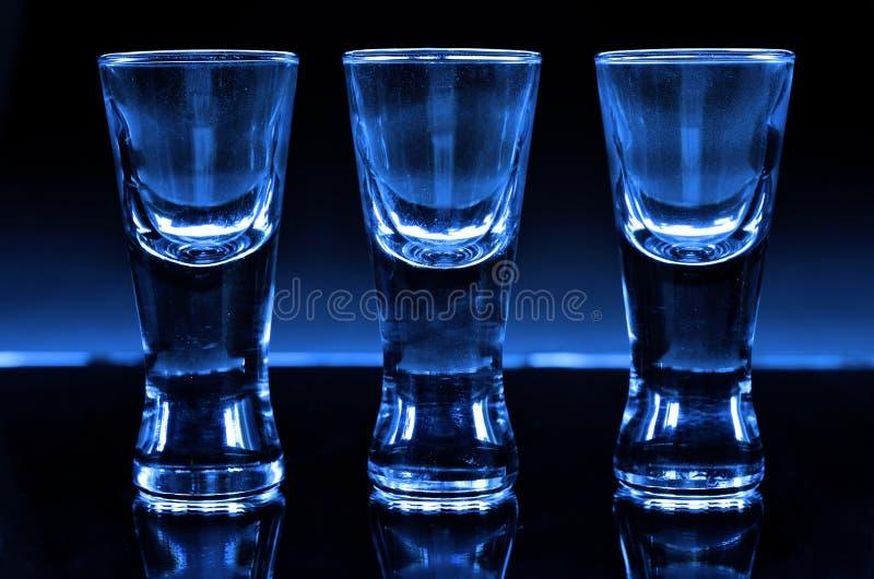 Tre sköt exponeringsglas