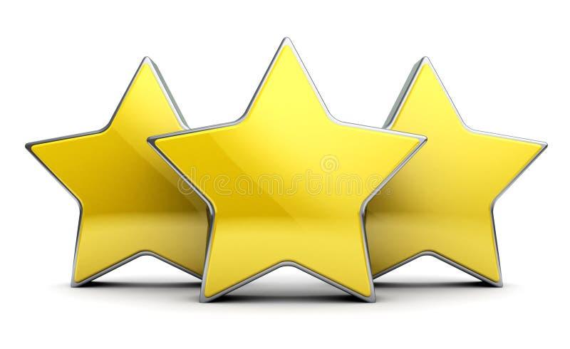 Tre stelle illustrazione vettoriale