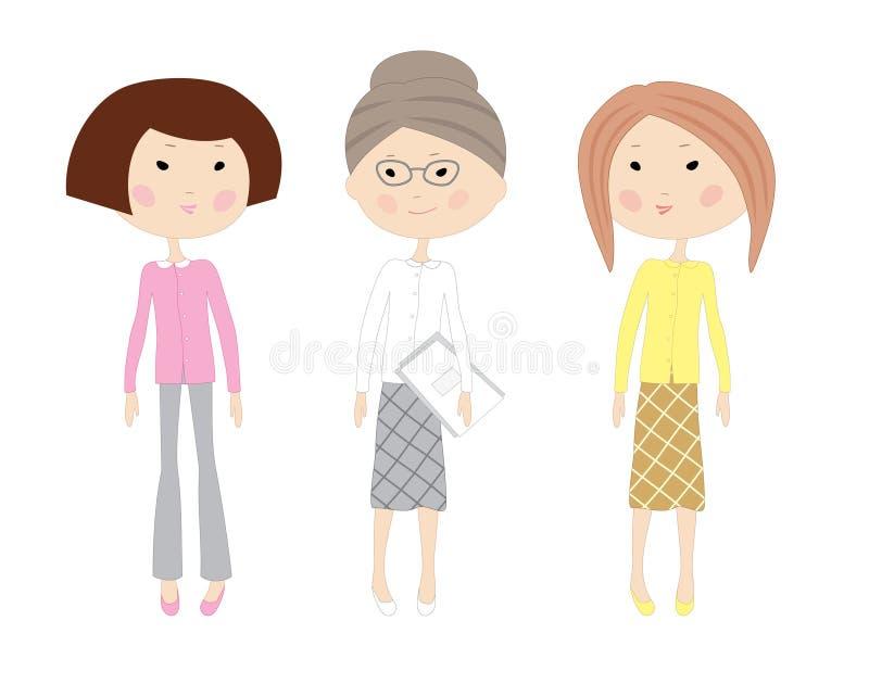 tecknade bilder på kvinnor