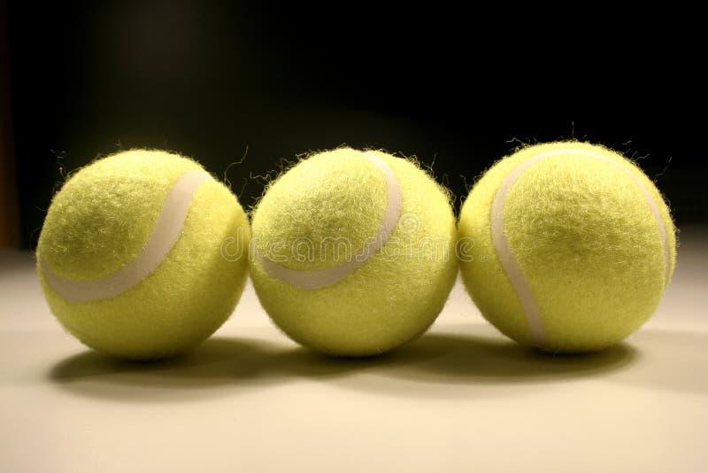 Tre tennis-sfere II immagine stock