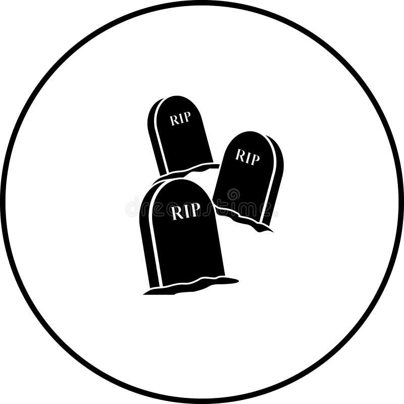 Tre tombe con simbolo di iscrizione a strisce illustrazione vettoriale