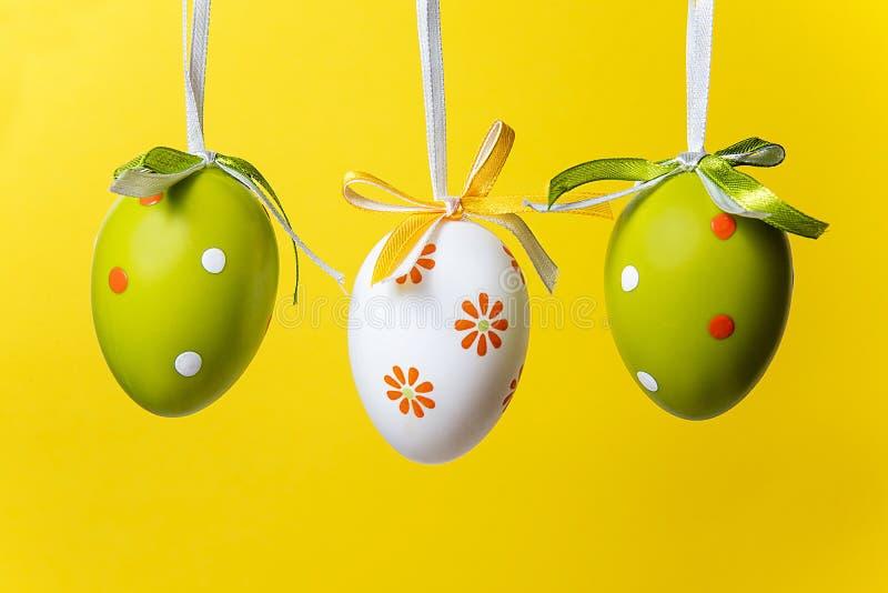 Tre uova di Pasqua immagine stock libera da diritti