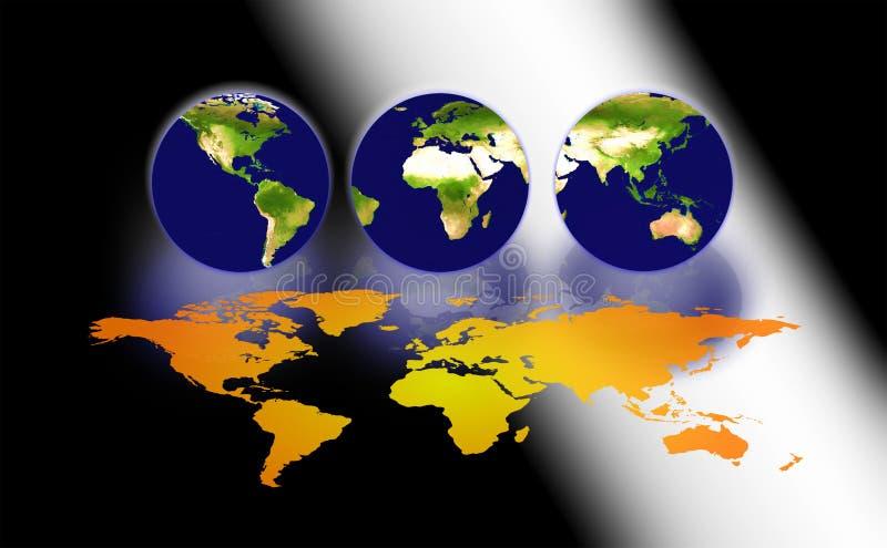 tre världar royaltyfri illustrationer