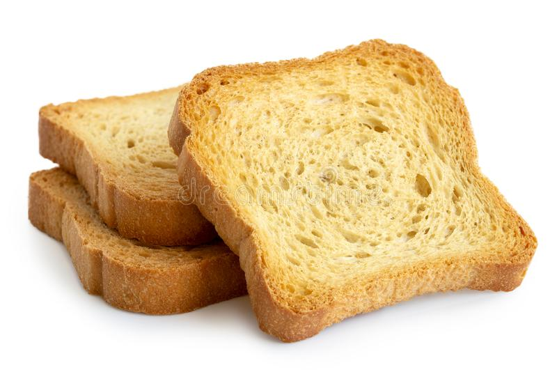 Tre vanliga melbarostade bröd som isoleras på vit fotografering för bildbyråer