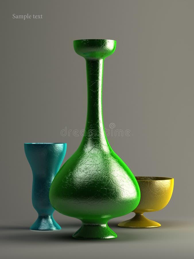 Tre vasi fotografia stock