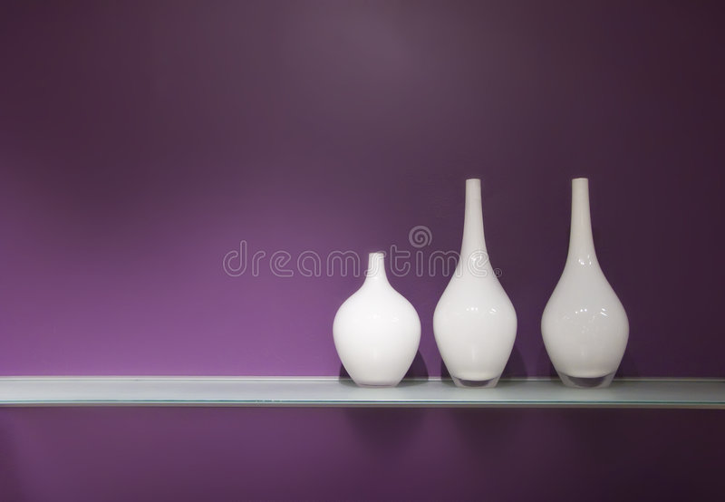 Tre vasi di vetro fotografie stock libere da diritti