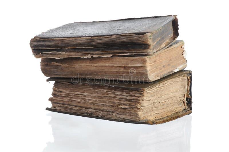 Tre vecchi libri immagine stock libera da diritti