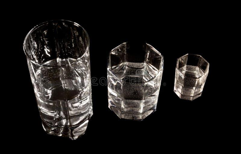 Tre vetri differenti immagini stock