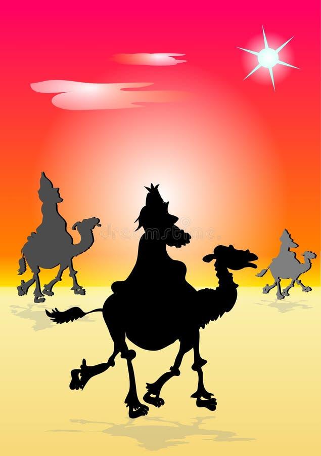 tre wisemen stock illustrationer