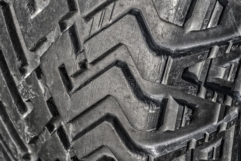 The tread of a car tire royalty free stock image