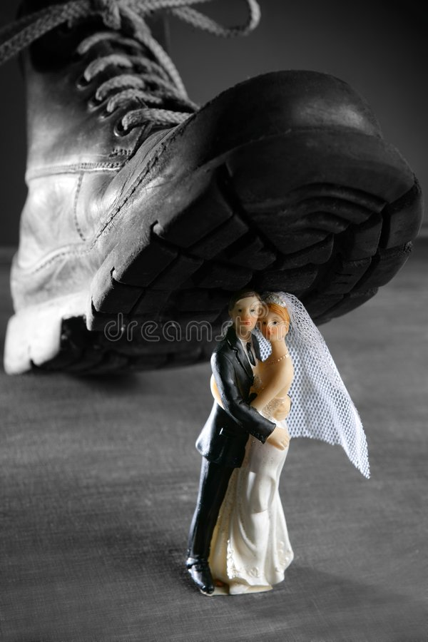Download Tread A Marriage Couple Figurine Stock Image - Image: 8822755