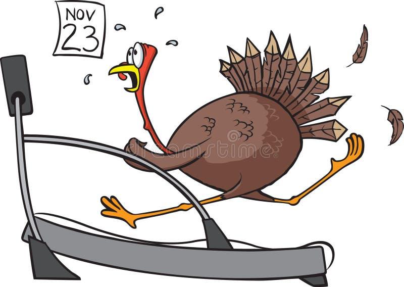 Tread mill Turkey royalty free illustration