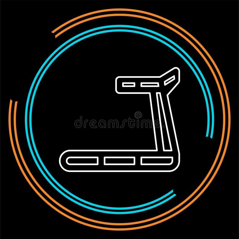 Treadmill εικονίδιο, ικανότητα, άσκηση, εικονίδιο γυμναστικής - διανυσματική μηχανή κατάρτισης διανυσματική απεικόνιση