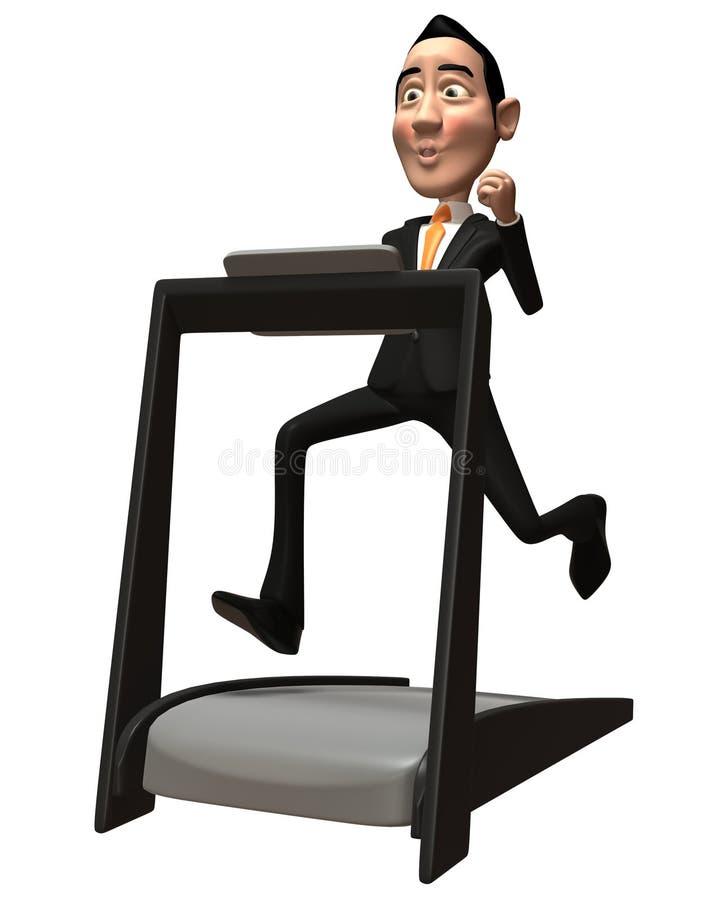 Treadmill επιχειρησιακών ατόμων Στοκ Εικόνες