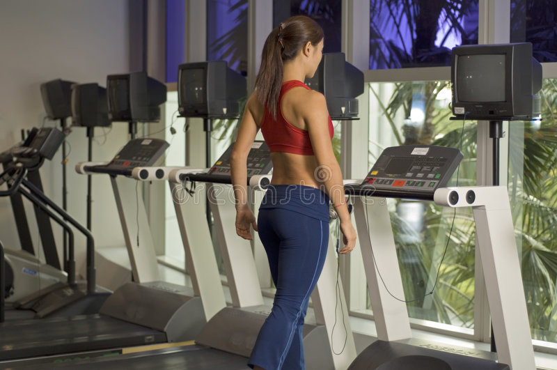 Download On The Treadmill stock photo. Image of cardivoscular, walking - 152272