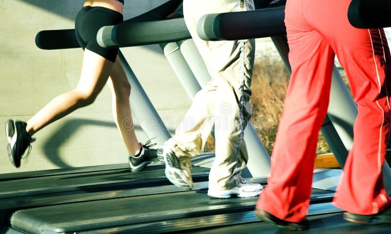 On the treadmill stock photo