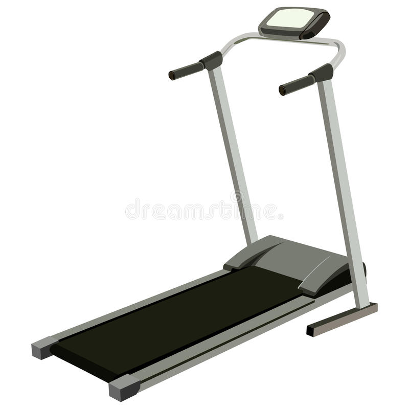 Treadmill. With display on a white background royalty free illustration