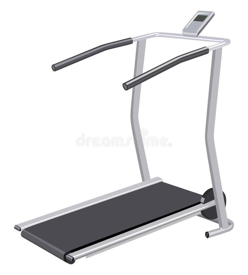 Treadmill. With display on a white background vector illustration