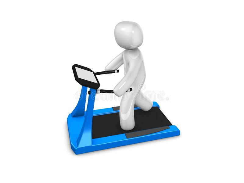 Download Treadmill exercise stock illustration. Image of people - 16925092