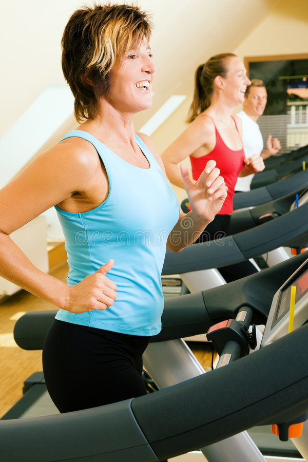 Download Treadmill in the gym stock photo. Image of smile, shape - 6404572