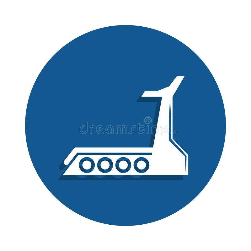Treadmill icon in badge style. One of sport collection icon can be used for UI, UX royalty free illustration