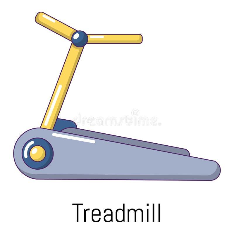 Treadmill icon, cartoon style stock illustration