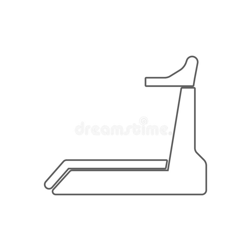 Treadmill icon. Element of Sport for mobile concept and web apps icon. Outline, thin line icon for website design and development stock illustration
