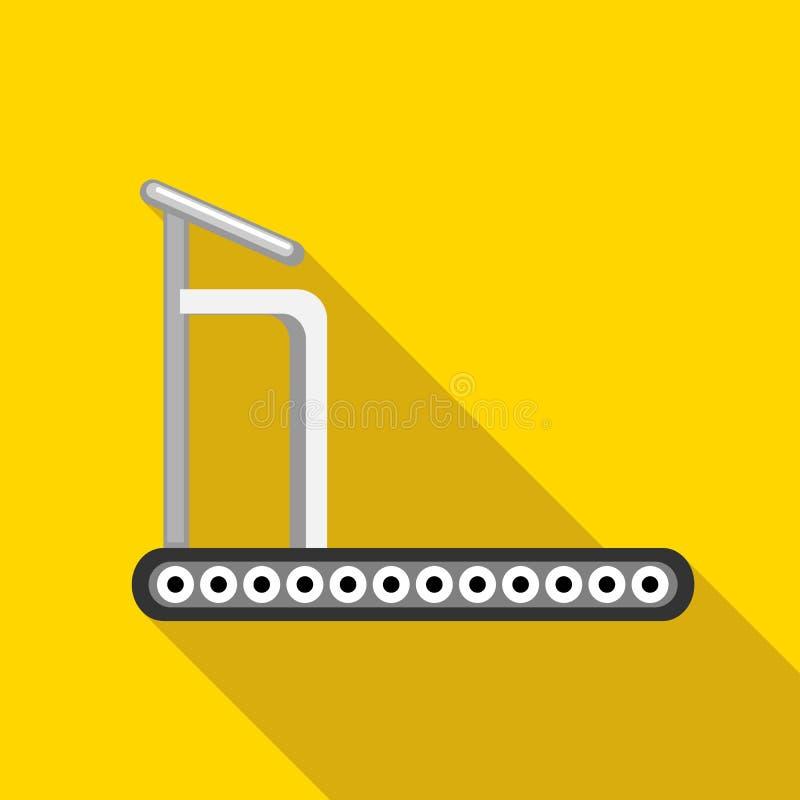 Treadmill icon, flat style stock illustration