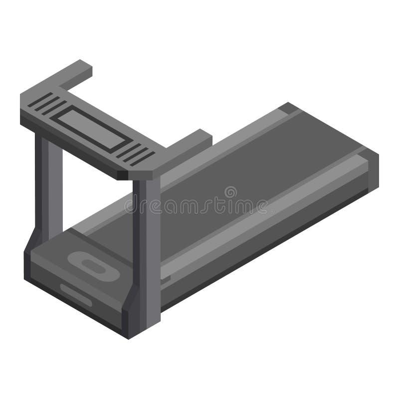 Treadmill icon, isometric style stock illustration