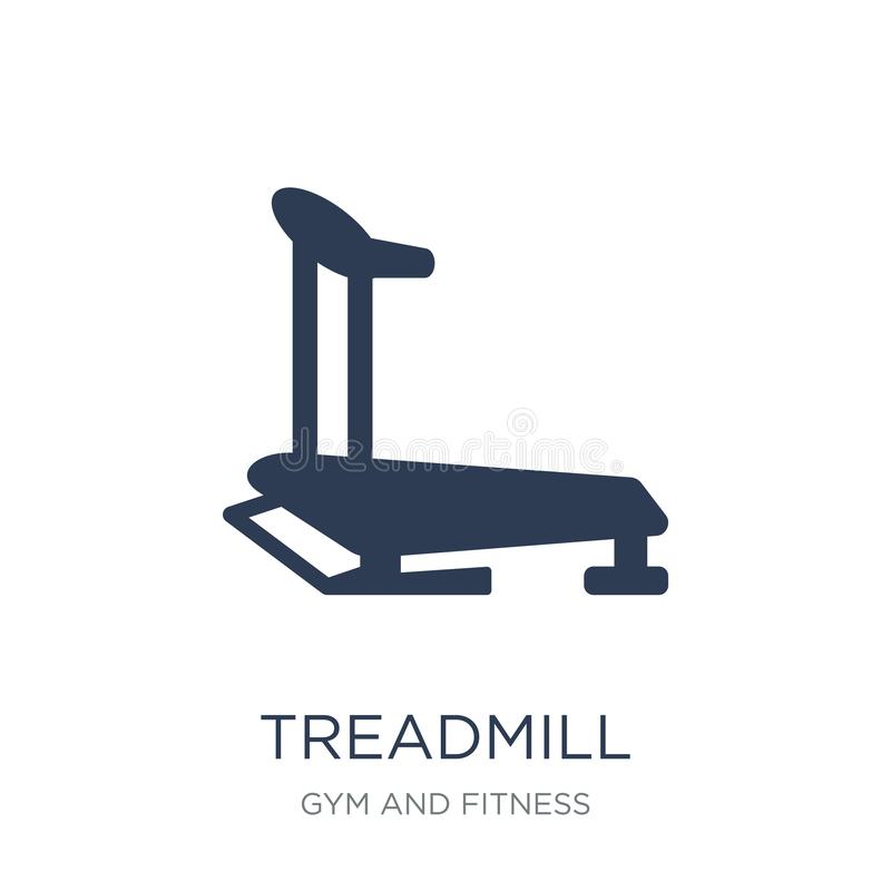 Treadmill icon. Trendy flat vector Treadmill icon on white background from Gym and fitness collection. Vector illustration can be use for web and mobile, eps10 stock illustration