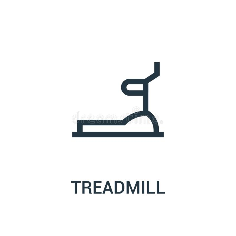 treadmill icon vector from gym collection. Thin line treadmill outline icon vector illustration stock illustration