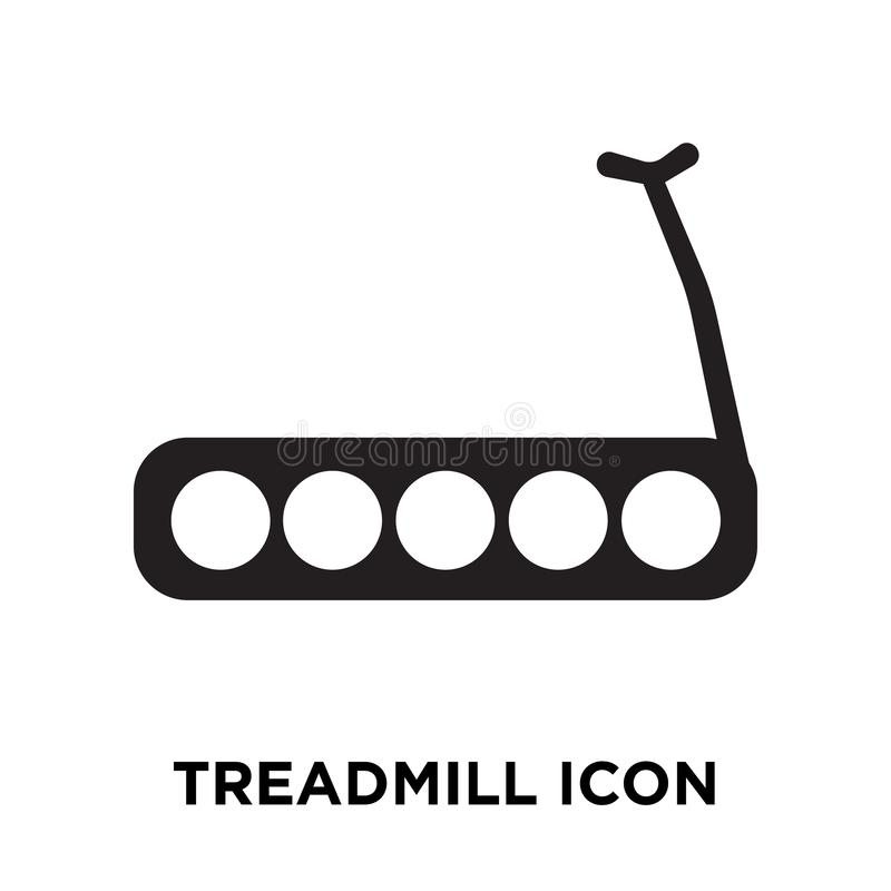 Treadmill icon vector isolated on white background, logo concept stock illustration