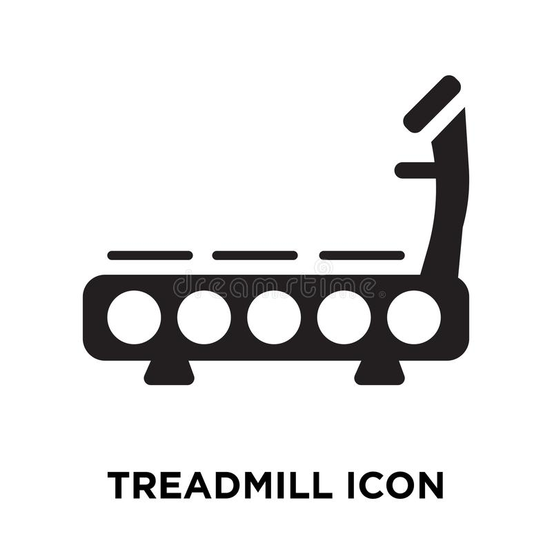 Treadmill icon vector isolated on white background, logo concept royalty free illustration