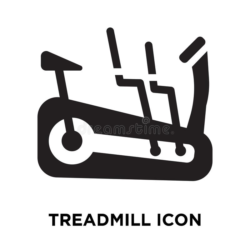 Treadmill icon vector isolated on white background, logo concept vector illustration