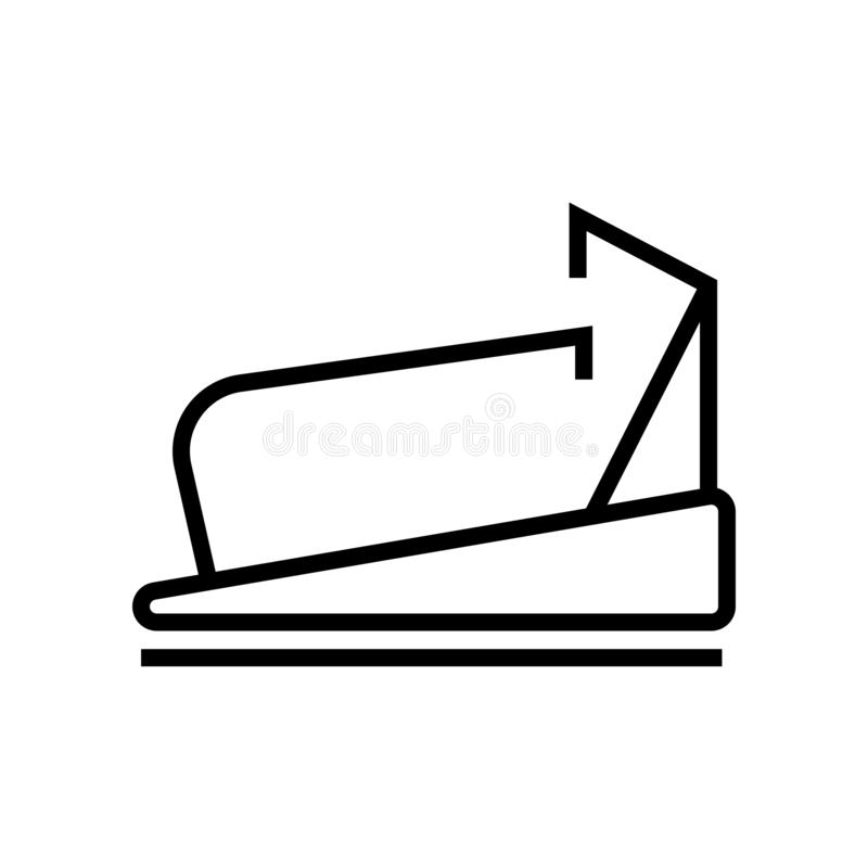 Treadmill icon vector sign and symbol isolated on white background, Treadmill logo concept. Treadmill icon vector isolated on white background for your web and royalty free illustration