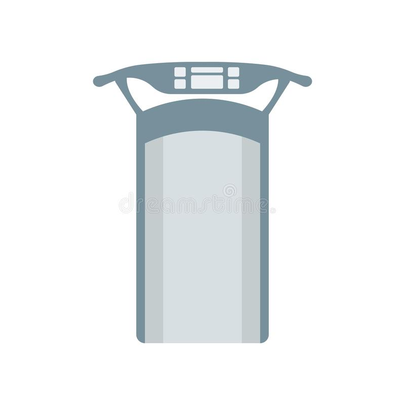 Treadmill icon vector sign and symbol isolated on white background, Treadmill logo concept. Treadmill icon vector isolated on white background for your web and vector illustration