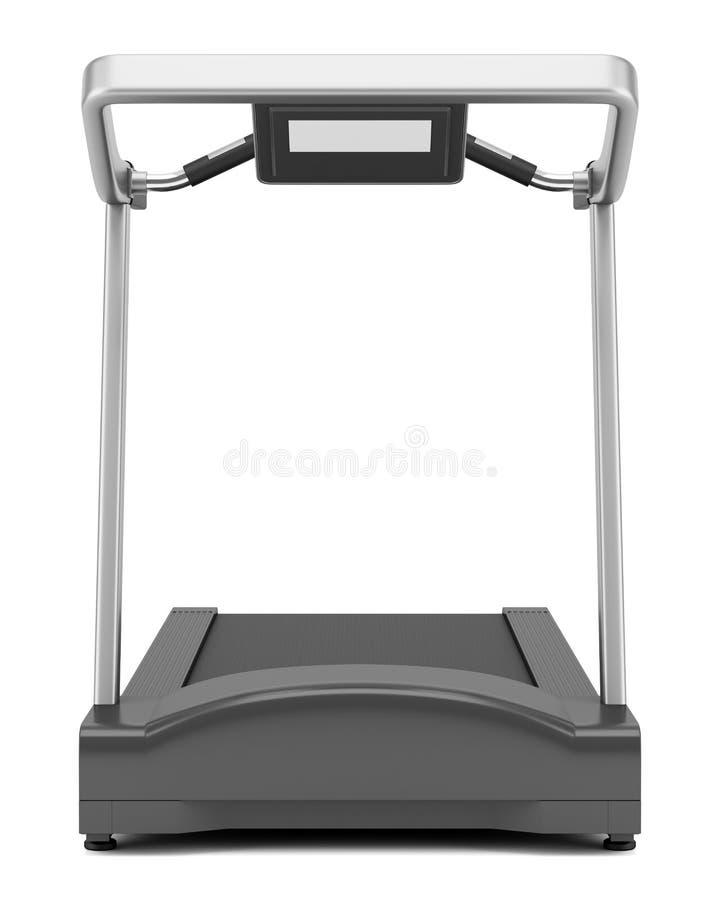 Treadmill isolated on white. Background stock illustration