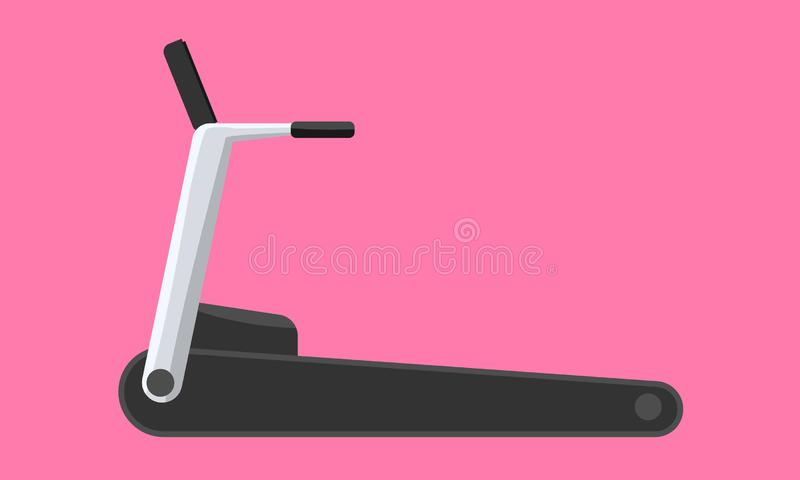 Treadmill machine icon flat and solid color design. Vector illustration. Treadmill machine icon flat and solid color design. Modern running machine. Vector royalty free illustration
