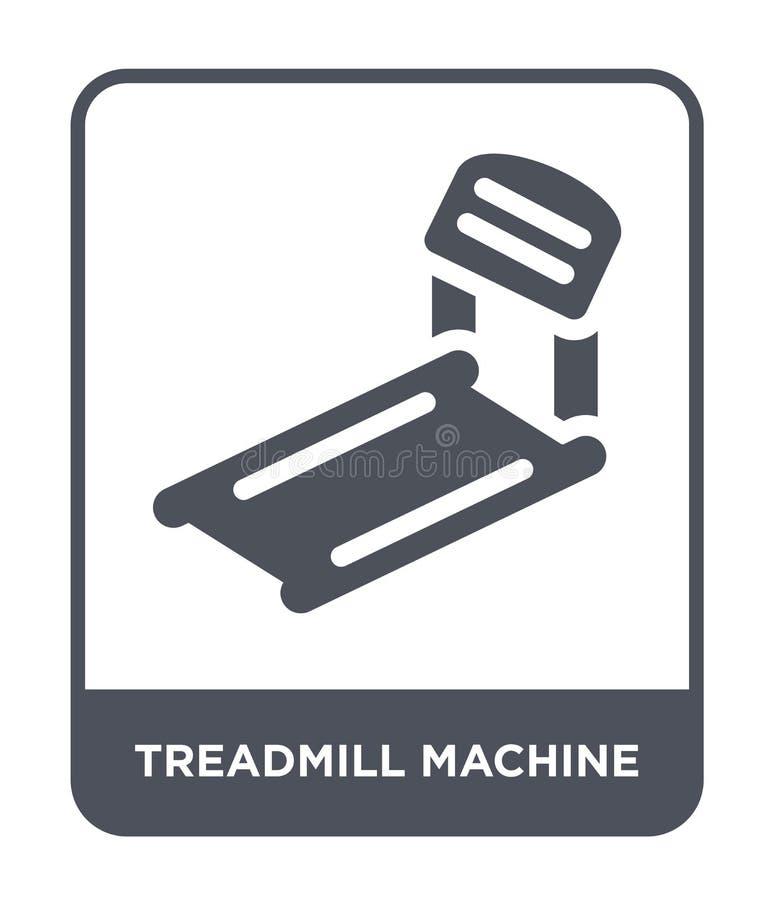 treadmill machine icon in trendy design style. treadmill machine icon isolated on white background. treadmill machine vector icon vector illustration
