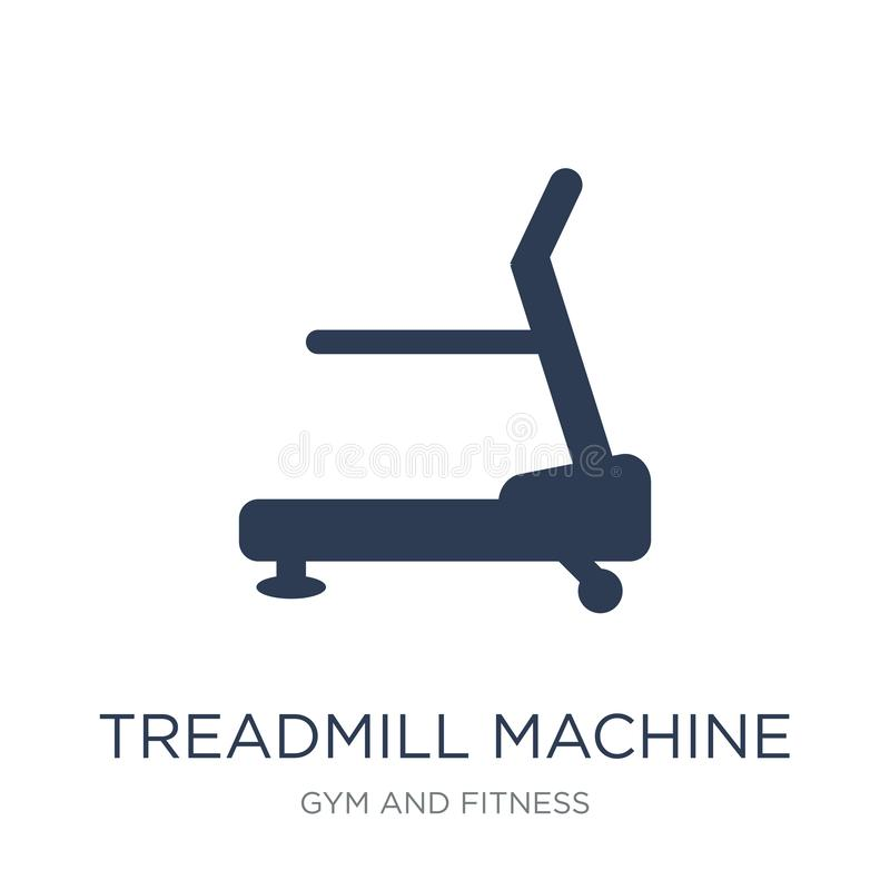 Treadmill machine icon. Trendy flat vector Treadmill machine icon on white background from Gym and fitness collection. Vector illustration can be use for web stock illustration
