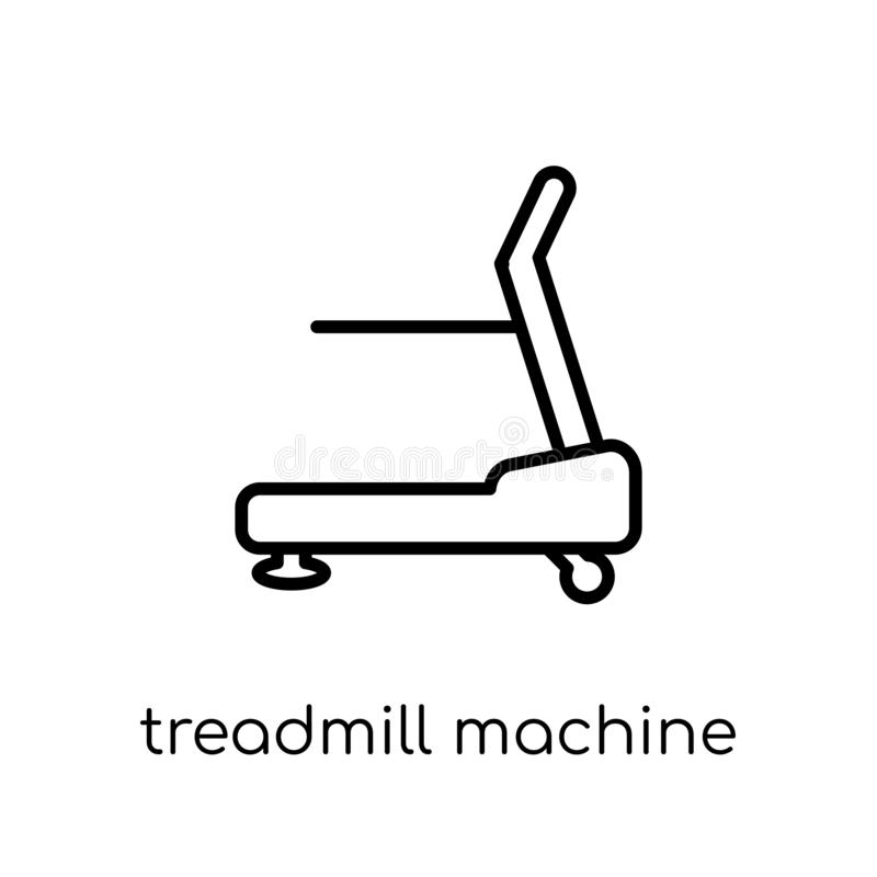 Treadmill machine icon. Trendy modern flat linear vector Treadmill machine icon on white background from thin line Gym and royalty free illustration