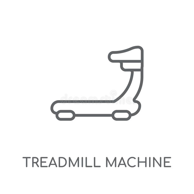 Treadmill machine linear icon. Modern outline Treadmill machine royalty free illustration