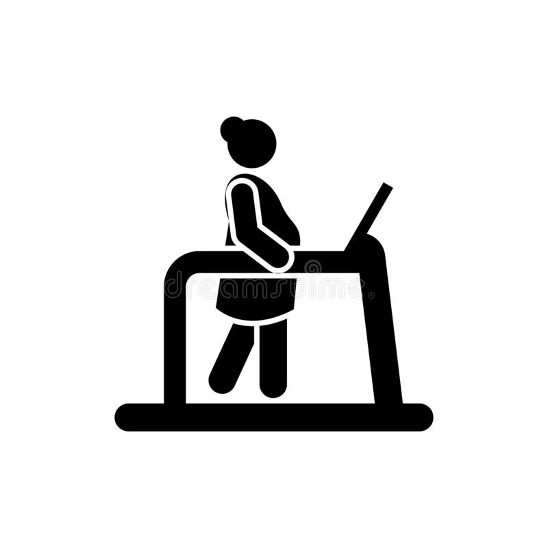 Treadmill, mother, pregnant icon. Element of maternity icon. Premium quality graphic design icon. Signs and symbols collection. Icon for websites, web design stock illustration
